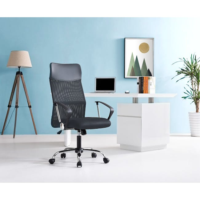 Cory High Back Office Chair - Grey - 5