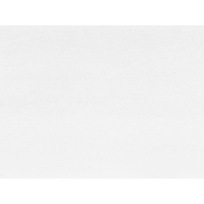 (King) Aurora Fitted Sheet 4-pc Set - White - 10
