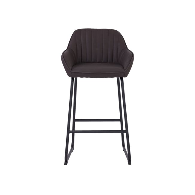 Edson Counter Chair - Mocha (Faux Leather) - 2