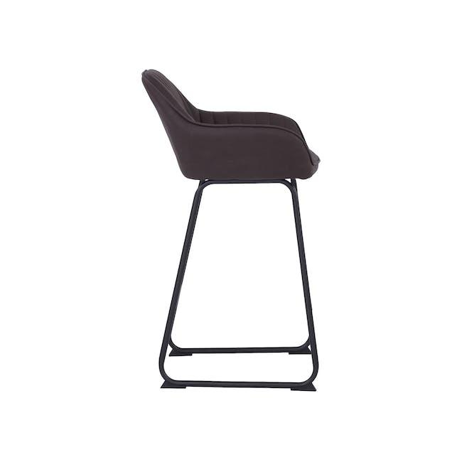 Edson Counter Chair - Mocha (Faux Leather) - 3