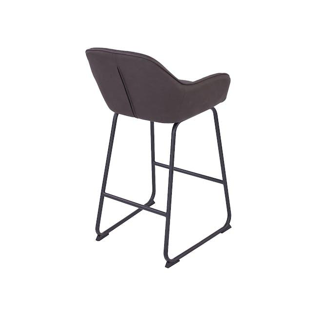 Edson Counter Chair - Mocha (Faux Leather) - 4