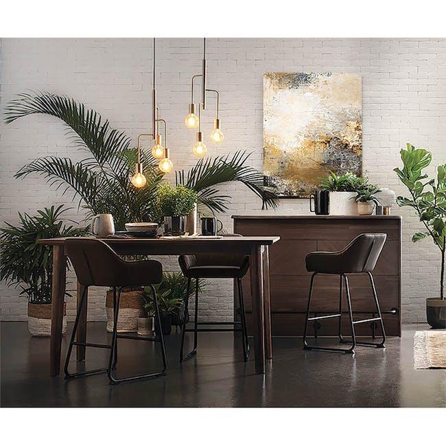 Edson Counter Chair - Mocha (Faux Leather) - 1