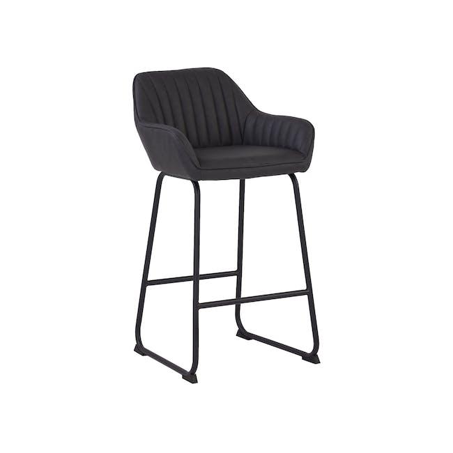 Edson Counter Chair - Mocha (Faux Leather) - 0