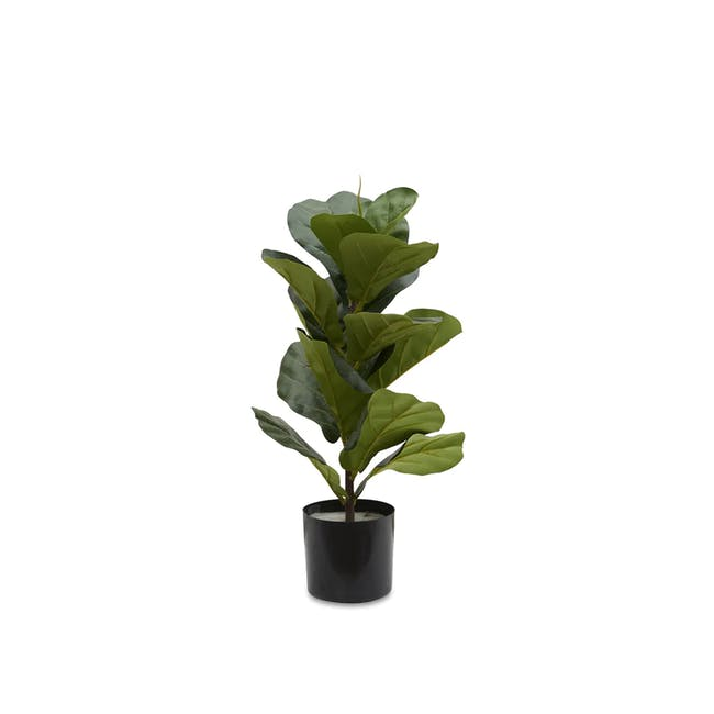 Potted Faux Fiddle Leaf Fig Plant 60 cm - 0