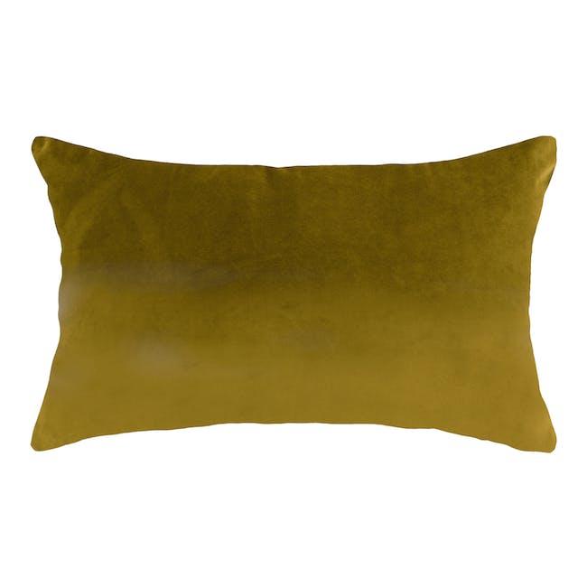 Alyssa Velvet Lumbar Cushion Cover - Mustard - 0