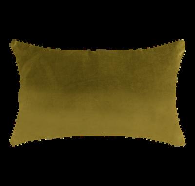 Alyssa Velvet Lumbar Cushion - Mustard - Image 1