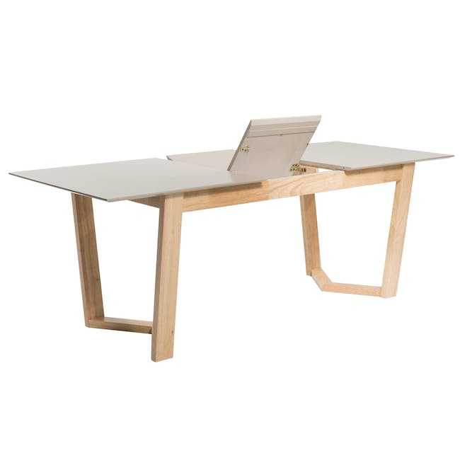 Meera Extendable Dining Table 1.6m - Natural, Taupe Grey - 5