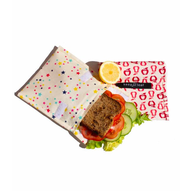 Reusable Snack Bag - Black and White (Size L) - 5
