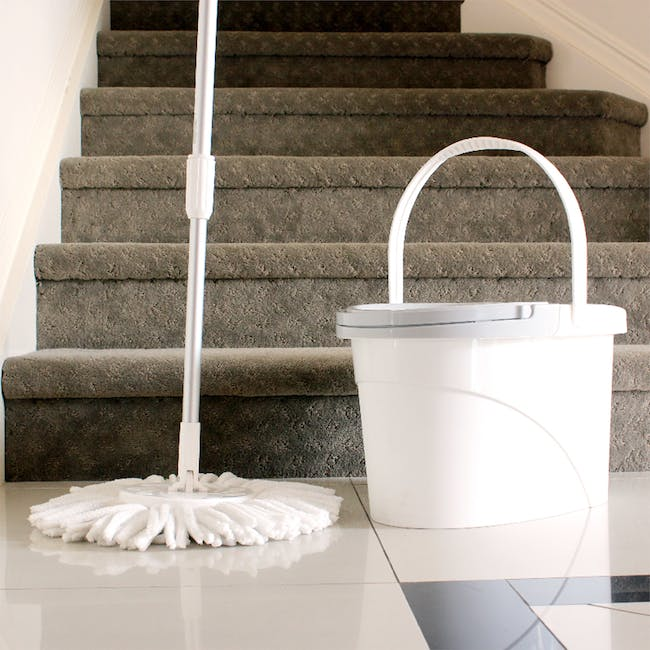 Pure Spin Mop Set (2 Heads With No Extension) - 1