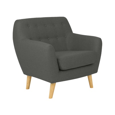 Emma 1 Seater Sofa - Charcoal