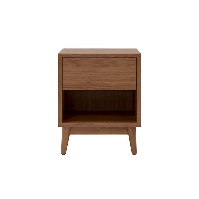 Kyoto Top Drawer Bedside Table - Walnut - 3