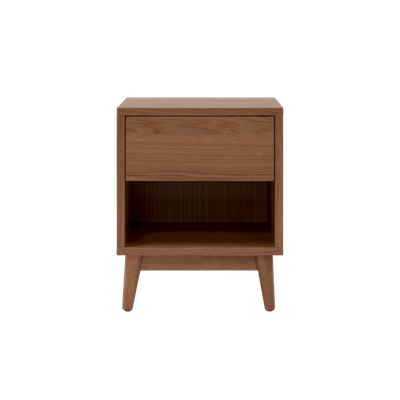 Kyoto Single Drawer Bedside Table - Walnut - Image 1