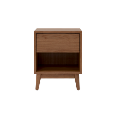 Kyoto Single Drawer Bedside Table - Walnut - Image 2