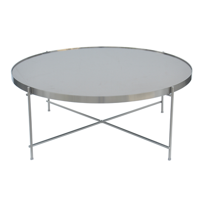 Chloe Round Coffee Table - Nickle - Image 2