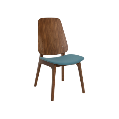 Maddie Dining Chair - Walnut, Clover - Image 1