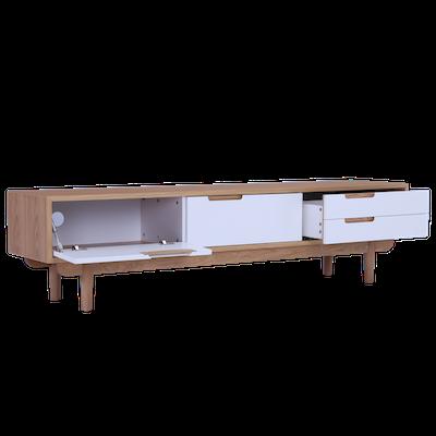 Larisa TV Console 1.8m - White, Oak - Image 2