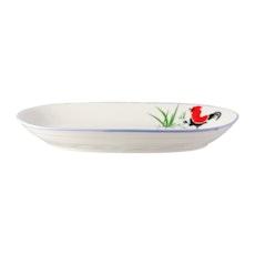 Rooster 9.5 Inch Rectangular Dish (2 pcs)
