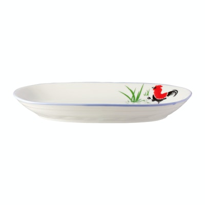Rooster 9.5 Inch Rectangular Dish (2 pcs) - Image 1