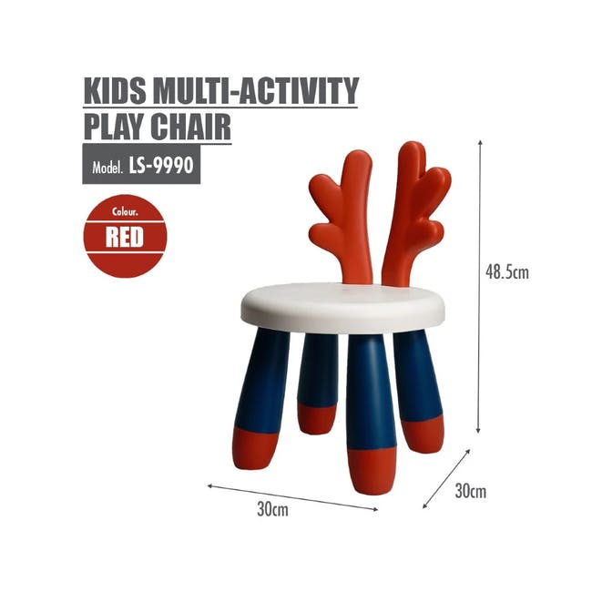 Kids Multi-Activity Play Chair - Red - 2