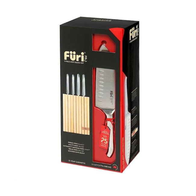 Furi Pro 5pc Wooden Knife Block Set - 2