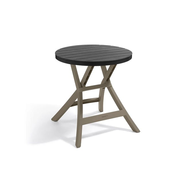 Oregon Folding Table - Graphite with Cappuccino Legs - 0