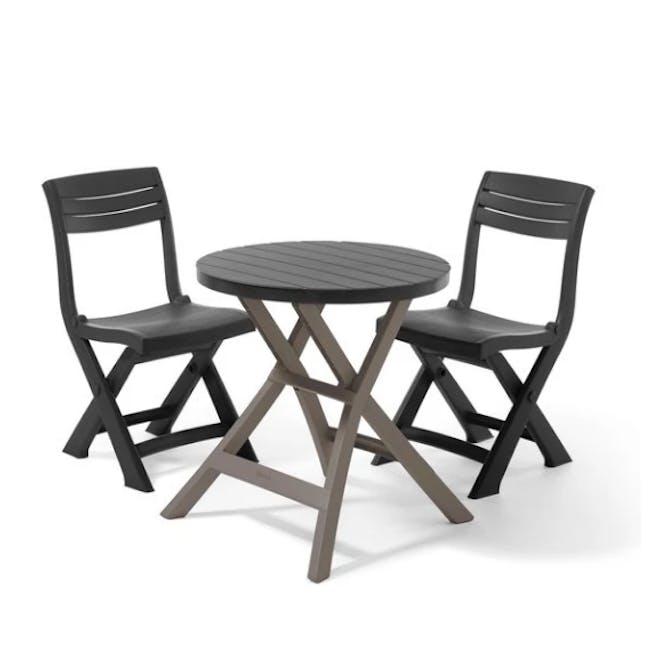 Oregon Folding Table - Graphite with Cappuccino Legs - 3