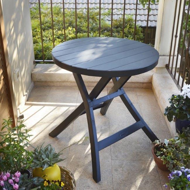 Oregon Folding Table - Graphite with Cappuccino Legs - 2