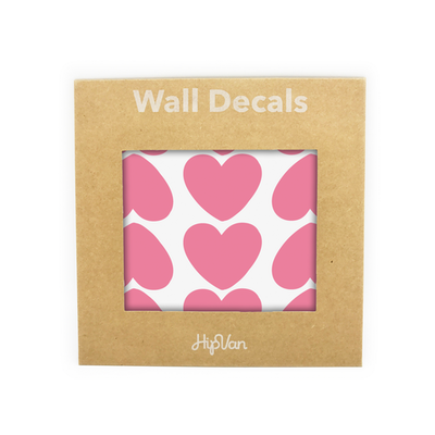 Peaches Heart Wall Decal (Pack of 60) - Pink