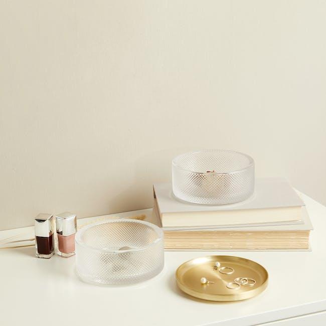 Tesora Glass Box - Brass - 10