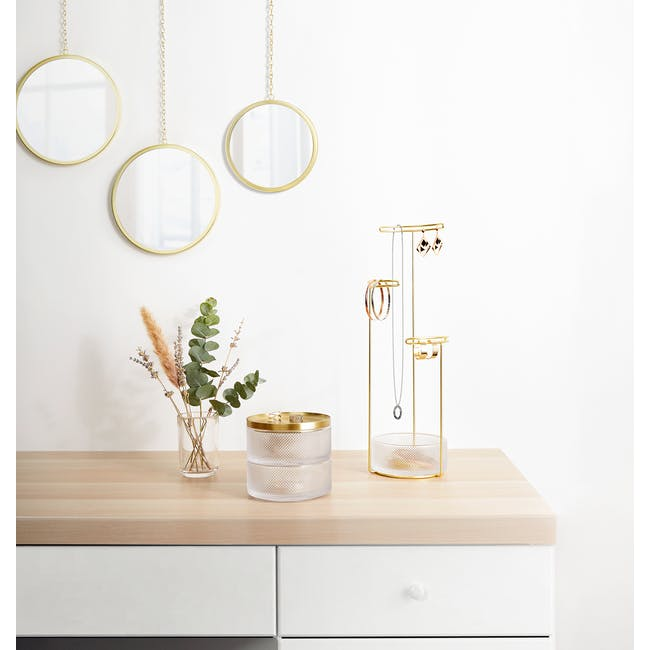 Tesora Glass Box - Brass - 7