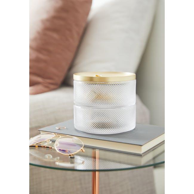 Tesora Glass Box - Brass - 8
