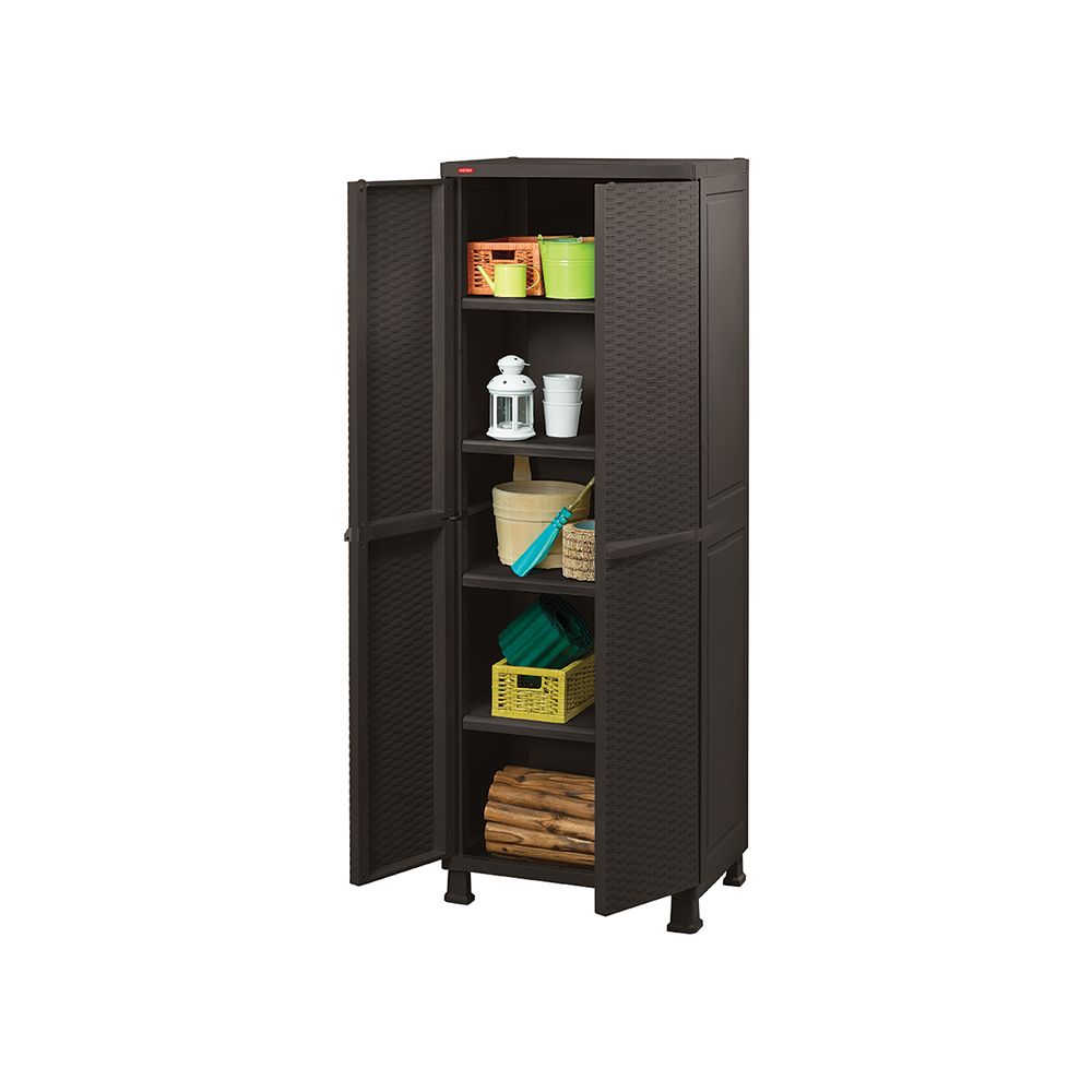 Keter Rattan Utility Cabinet with Legs | HipVan