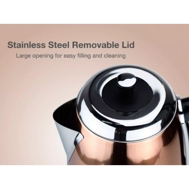 Odette Streamline 1.7L Stainless Steel Electric Kettle - Yellow - 5