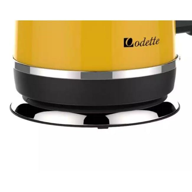 Odette Streamline 1.7L Stainless Steel Electric Kettle - Yellow - 3