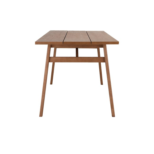 Odette Dining Table 1.6m with 4 Imogen Dining Chair in Dolphin Grey and Spring Green - 5