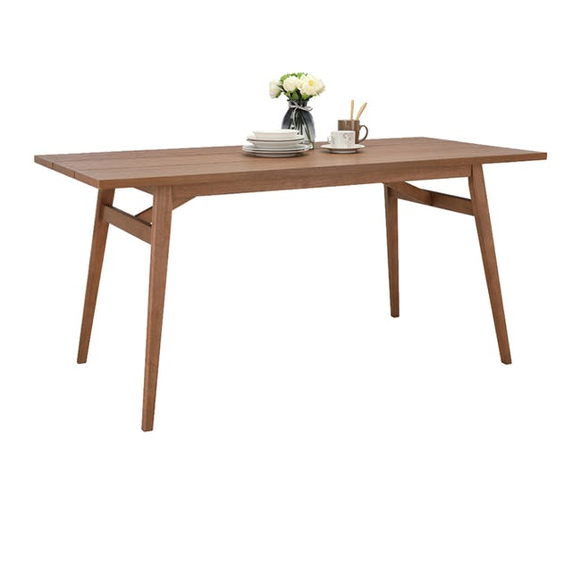 Odette Dining Table 1.6m with 4 Imogen Dining Chair in Dolphin Grey and Spring Green - 6