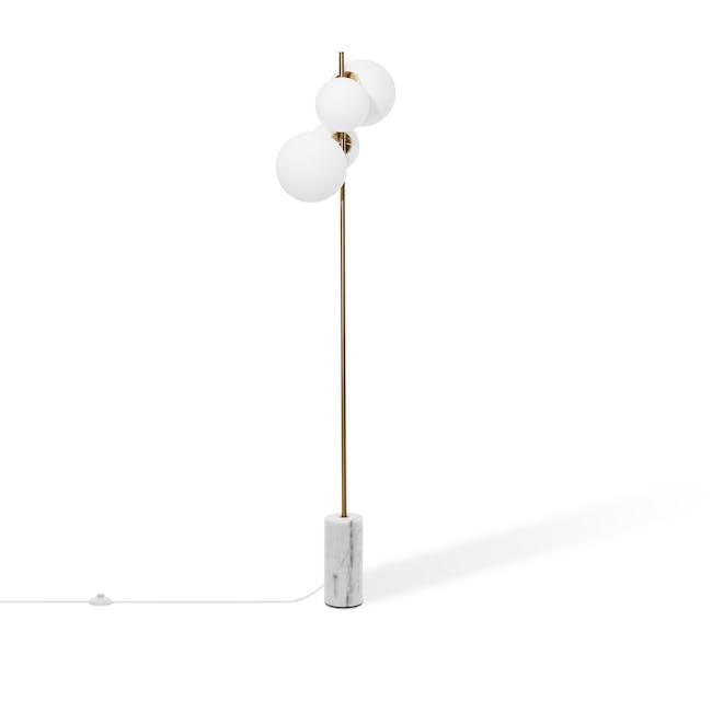 Luocco Marble Floor Lamp - White - 2