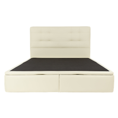 Cassandra Storage Bed - Cream (Faux Leather) - Image 1