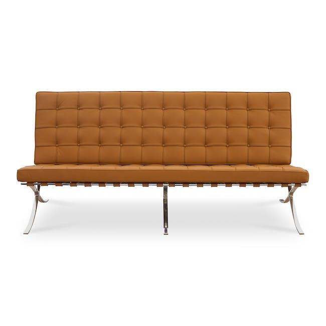 Barcelona 3 Seater Sofa Replica - Tan (Genuine Cowhide) - 0