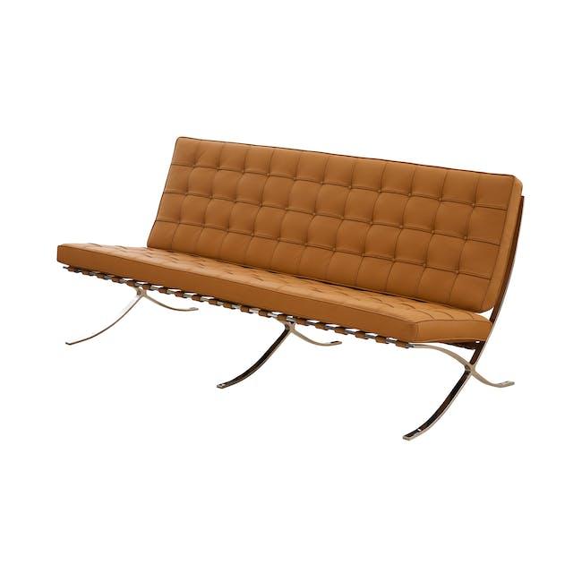 Barcelona 3 Seater Sofa Replica - Tan (Genuine Cowhide) - 1