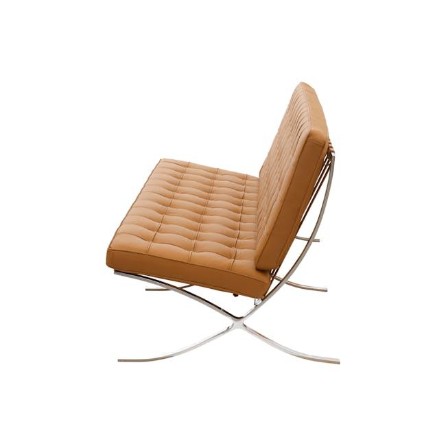 Barcelona 3 Seater Sofa Replica - Tan (Genuine Cowhide) - 2