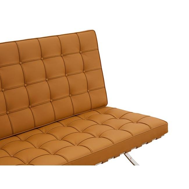 Barcelona 3 Seater Sofa Replica - Tan (Genuine Cowhide) - 4