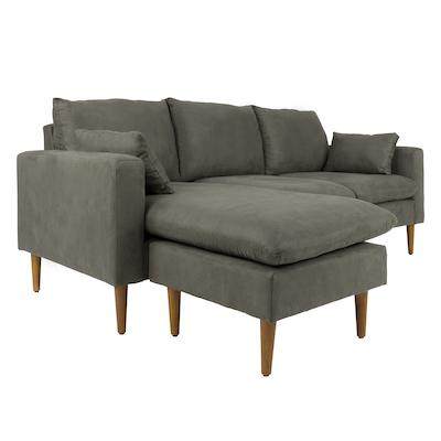 Alicia L Shape Sofa - Grey