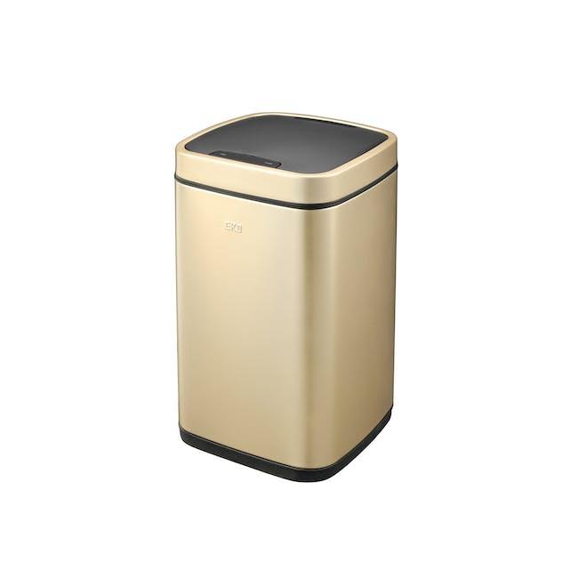 EKO Ecosmart Stainless Steel Square Motion Sensor Bin - Champagne Gold (2 Sizes) - 0