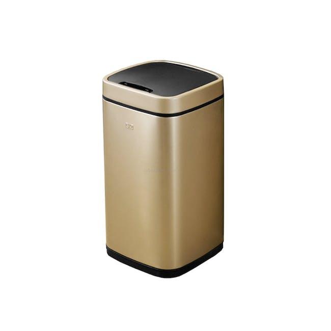EKO Ecosmart Stainless Steel Square Motion Sensor Bin - Champagne Gold (2 Sizes) - 2