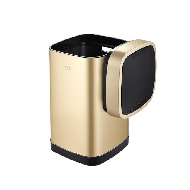 EKO Ecosmart Stainless Steel Square Motion Sensor Bin - Champagne Gold (2 Sizes) - 1
