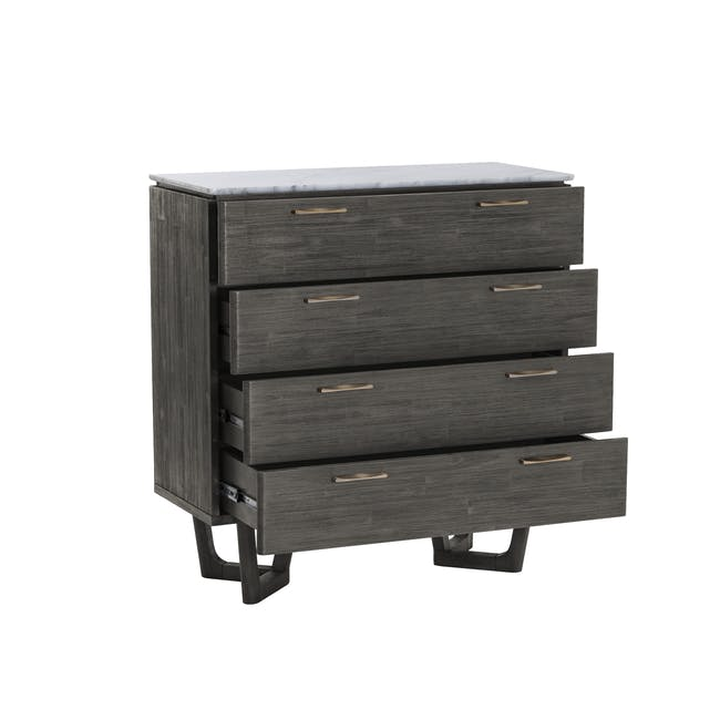 Carson Marble 4 Drawer Chest 1m - 2