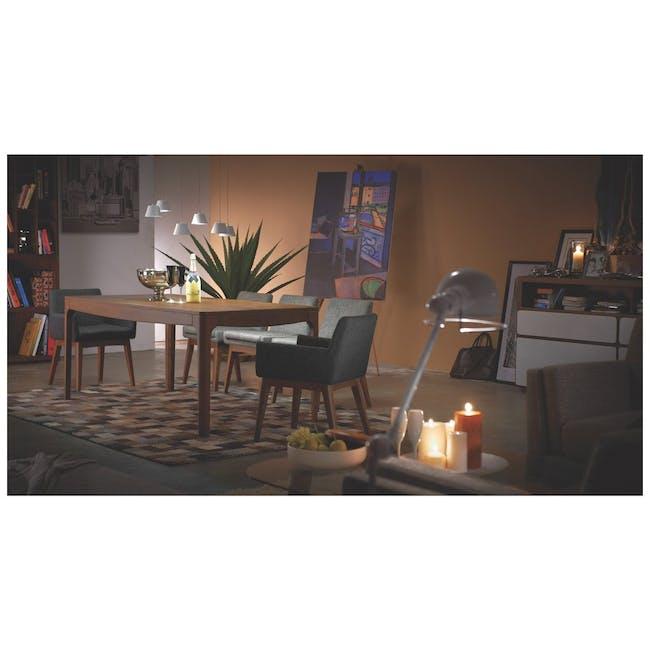 Fabian Dining Chair - Black, Aquamarine - 2