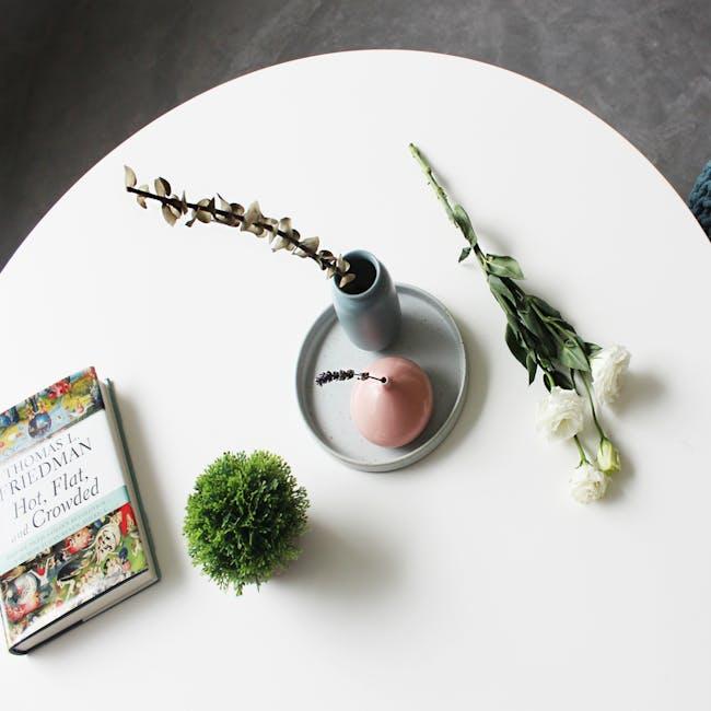 Nordic Matte Vase Short Cylinder - Dusty Pink - 3