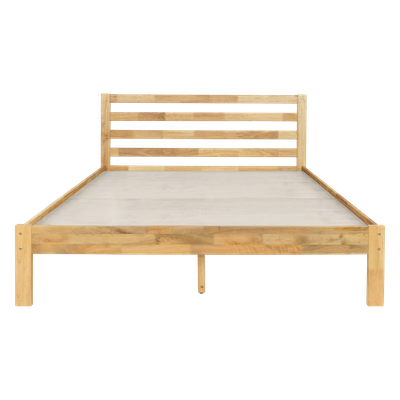 Kyoto Solid Wood King Bed with 2 Kyoto Single Drawer Bedside Tables - Oak - Image 2